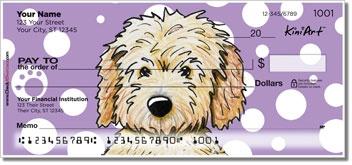 KiniArt™ Goldendoodle dog breed checks by Kim Niles