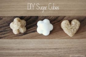 Super easy to make sugar cubes. Good for parties or friend gifts. Can use heart bath fizzy molds