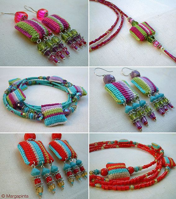 Gut gemocht 439 best DIY Crochet & Knit Jewelry images on Pinterest | Crochet  PY45
