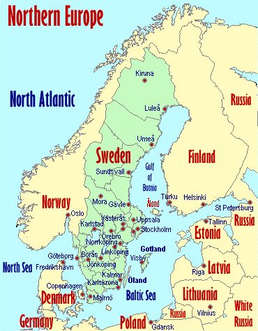Nordic Europe Map.Northern European Countries Three Maps I Just Got From A
