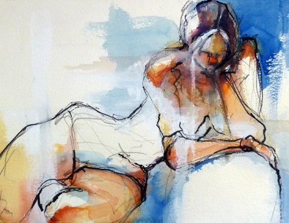 abstract figure paintings | Abstracted Figure in Watercolor « Art by Meghan Taylor