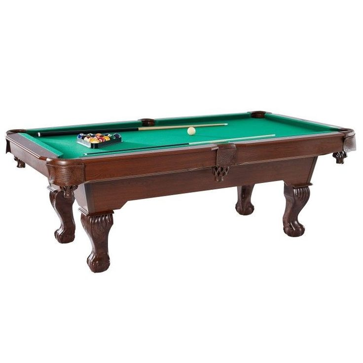 Pool Table Felt 90 Inch Game Room 7 1/2 Ft Billiard With Balls 2 Cue Sticks  New