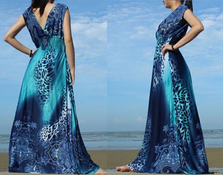 Sommer-Strand-Party Trikot lange Maxi-Kleid 1X-5X von MyParadise auf DaWanda.com