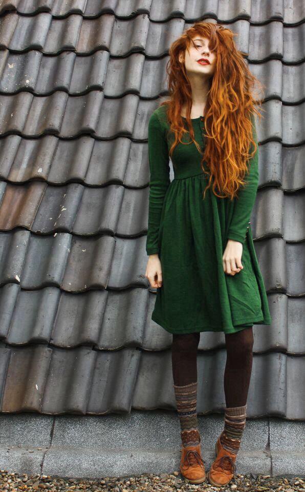 green dress tights wool socks