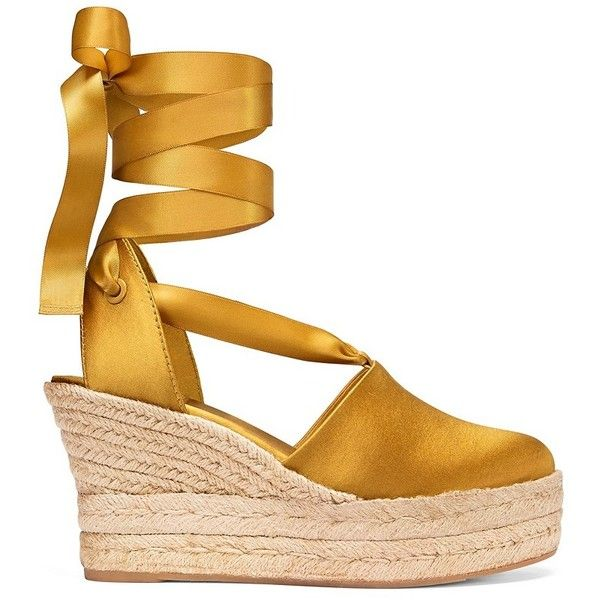 Tory Burch Elisa Espadrilles Wedges found on Polyvore featuring shoes, sandals, wedge espadrilles, platform wedge shoes, platform sandals, tory burch shoes and high heels sandals