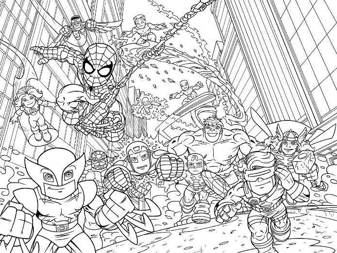 Print Super Hero Squad Marvel Coloring Pages Or Download Super Hero Squad Marvel Coloring Pages Detailed Coloring Pages Marvel Coloring Online Coloring Pages