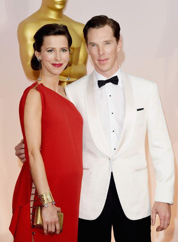 Bien qu'elle soit elle-même actrice et réalisatrice, la femme de Benedict Cumberbatch, Sophie Hunter, n'a pas autant d'expérience que lui pour arpenter les tapis rouges.   Benedict Cumberbatch pose la même question à sa femme sur chaque tapis rouge