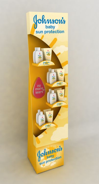Retail Point of Purchase Design | POP Design | Health & Beauty POP Display | Johnsons Baby Sun Care by Ricky Cordero at Coroflot.com