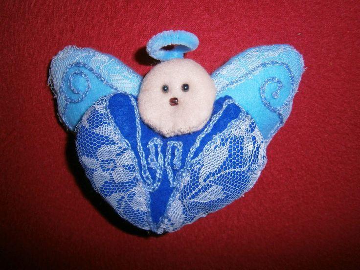 Lia B. Creations: Blue heart Angel