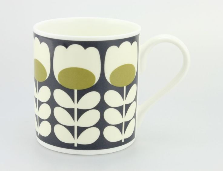 Orla Kiely Mug Tulip Stem Green from www.illustratedliving.co.uk