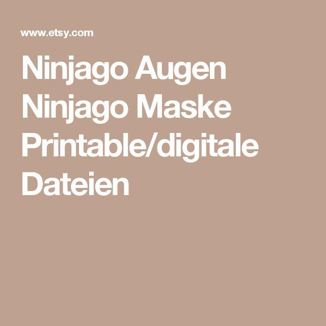 Ninjago Augen Ninjago Maske Printable/digitale Dateien