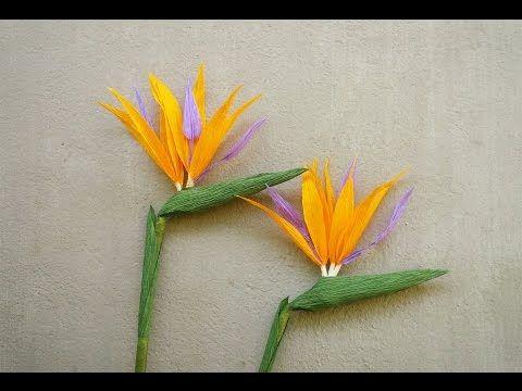 ABC TV | Cómo hacer pájaro de la flor de papel del paraíso del papel del Crepe - Tutorial del arte - YouTube