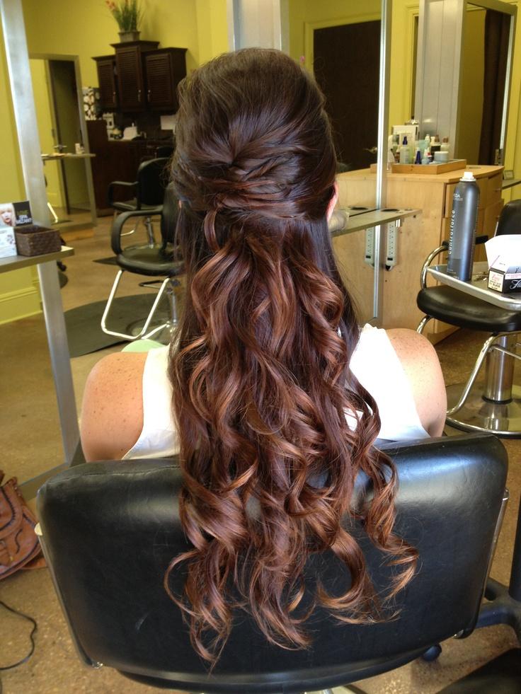 Half Up Half Down Curls Prom Hair Ideas Pinterest