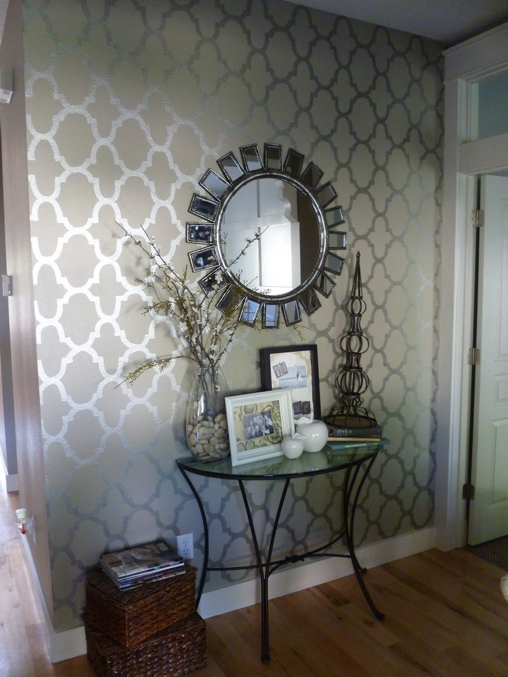 love this wallpaper! Entry perhaps? { wall whimsy