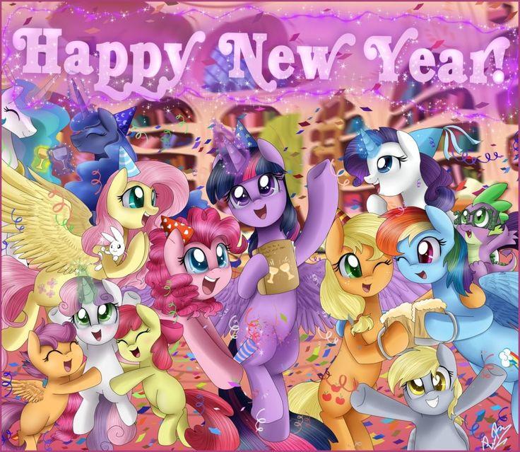 """Résultat de recherche d'images pour """"happy new year 2018 little pony"""""""
