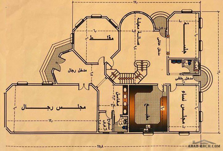 مخطط فيلا بسيطة نمط سعودي تصميم بسيط و منظم New House Plans House Front Design House Designs Exterior