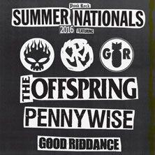 Quest'estate il Punk Rock Summer Nationals Tour sbarca in Italia, con Offspring, Pennywise e Good Riddance che travolgeranno gli spettatori con una cascata di note veloci e rabbiose. Biglietti in vendita dalle ore 12 di mercoledì 10 febbraio su TicketOne.it!