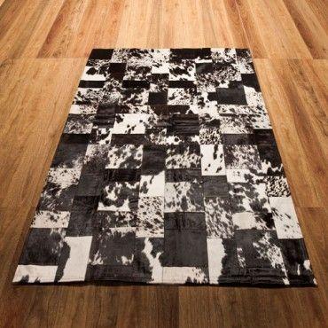 Patchwork Rug - Black & White Rembrandt - Rugs on Sale - Milan Direct