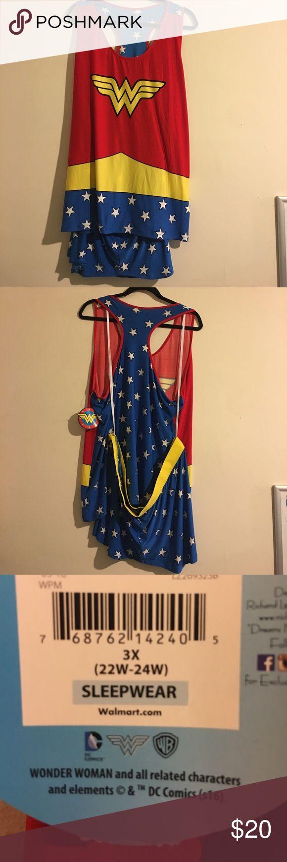 NWT Wonder Woman PJ Set Tank and shorts. Intimates & Sleepwear Pajamas