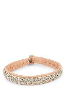 MARIA RUDMAN Pewter woven bracelet