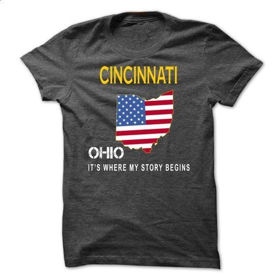 CINCINNATI - Its Where My Story Begins - #golf tee #tshirt necklace. ORDER NOW => https://www.sunfrog.com/States/CINCINNATI--Its-Where-My-Story-Begins-beqvn.html?68278