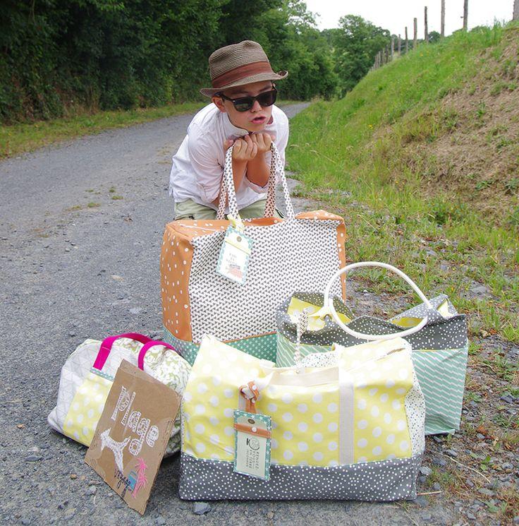 Sacs de voyage Lovely Canvas #kesiart #couture   5minpourcreer.com