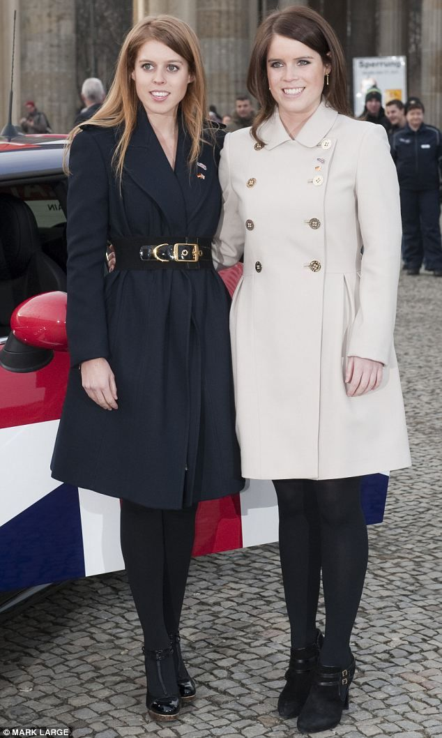 Princesses Beatrice and Eugenie promoting trade links between Great Britain and Germany at the Brandenberg Gate, Berlin