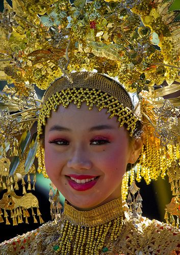 Traditonal dancer, Java, Indonesia