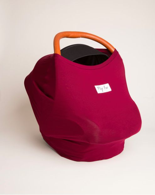 Banff Burgundy Cover made from buttery soft sustainable organic cotton.