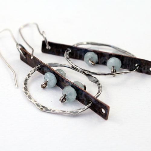 Aquamarine Mechanic earrings