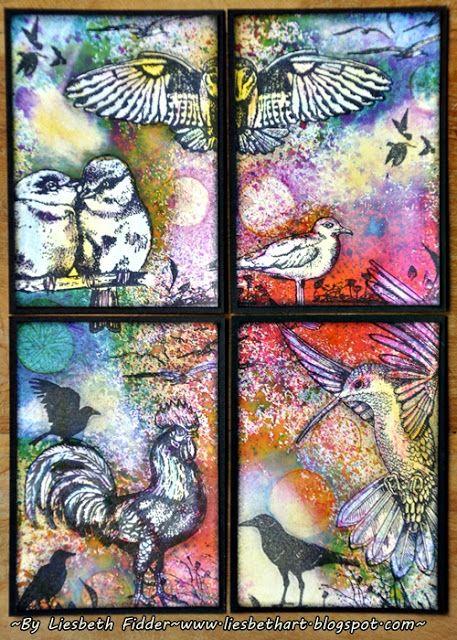 Liesbeth's Arts & Crafts: Art Journey Challenge 69 : Birds