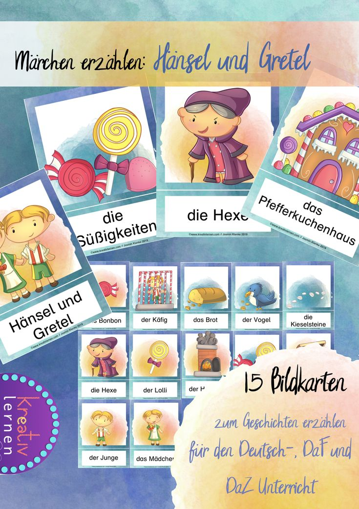 Bildkarten - Märchen erzählen: Hänsel und Gretel