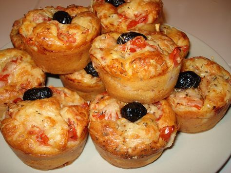 Muffins salados con sabor a pizza   Utimujer