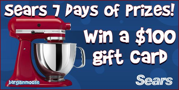 Sears Canada Contest Day 3: Win a $100 Gift Card Photo @bargainmoose