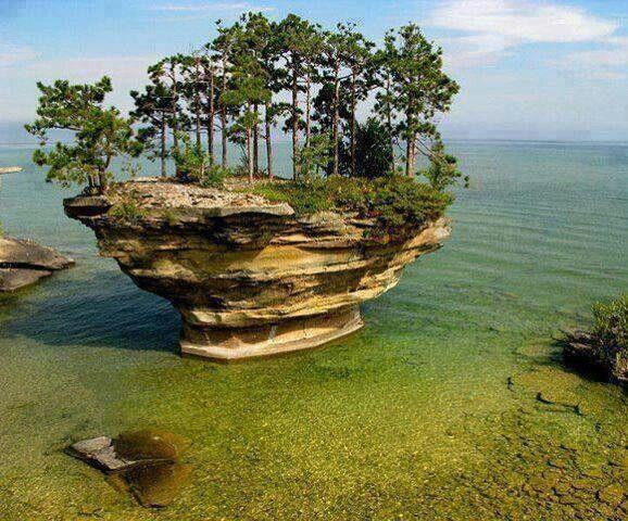 アメリカ ヒューロン湖
