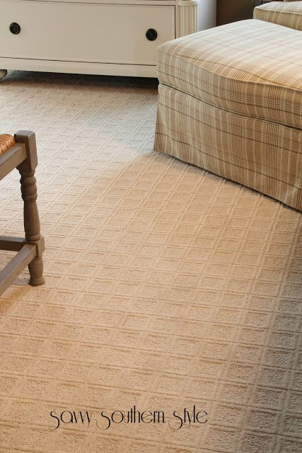 Savvy Southern Style: Master Reveal - Mohawk patterned premium carpet from Home Depot plus padding and installation: $1200