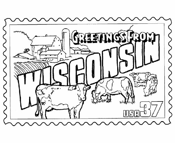 50 Best Images About Greetings From The States On Wisconsin Coloring Pages