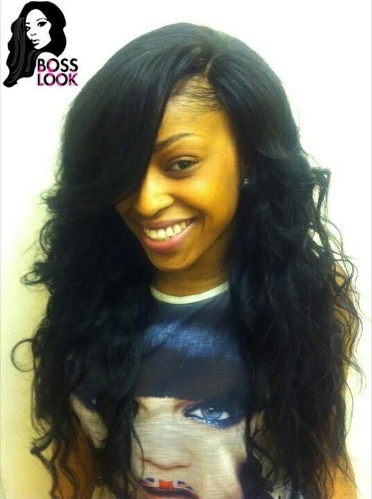 cute hairstyles with hats : Sew Ins