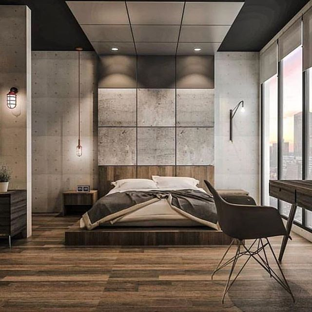 Follow Our Friend @highclass_homes !   Industrial Style For #bedroom 3d  Render By Emanuel