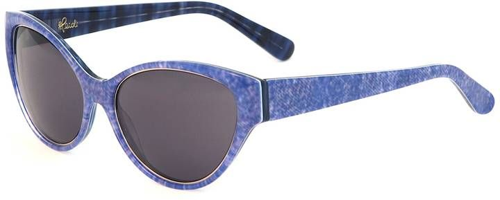 Heidi London - Denim Print Cateye Sunglasses Blue