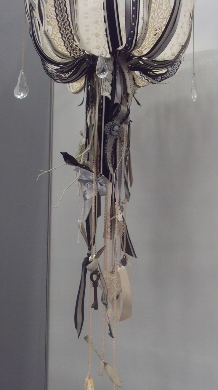 Ribbon Chandelier made by the gorgeous Donna from Lovely Things