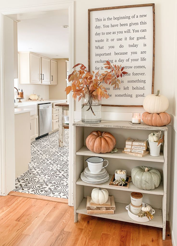 How to Decorate with Real Branches for Fall. Easy fall decor ideas using fall br…