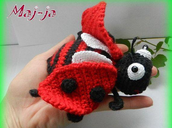 Ladybug  Amigurumi crochet ladybug  crochet insect by MajjaCrochet