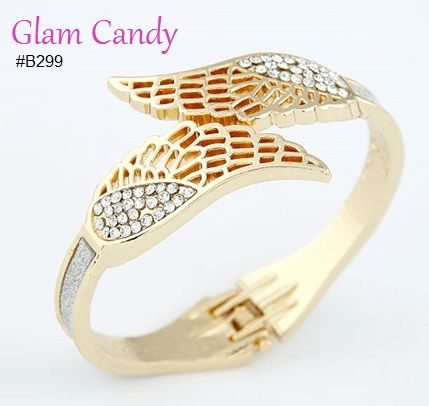 Shop: www.worldofglamoursa.com #bangle #angel #wings