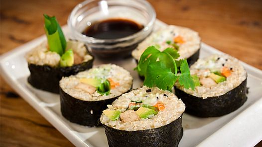 Quinoa and Millet Vegie Nori Rolls with Tofu Janella Purcell