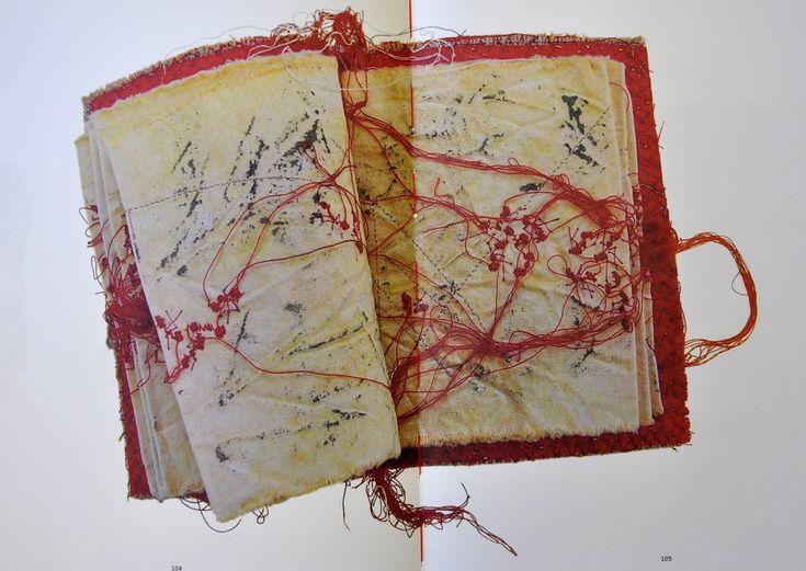Maria Lai, embroidered book 1991