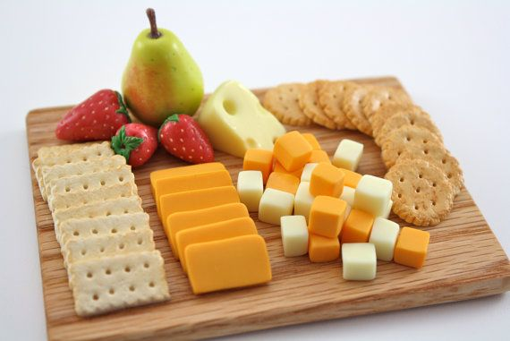 Craker Cheese & Fruit Presentation Board Food for by pippaloo