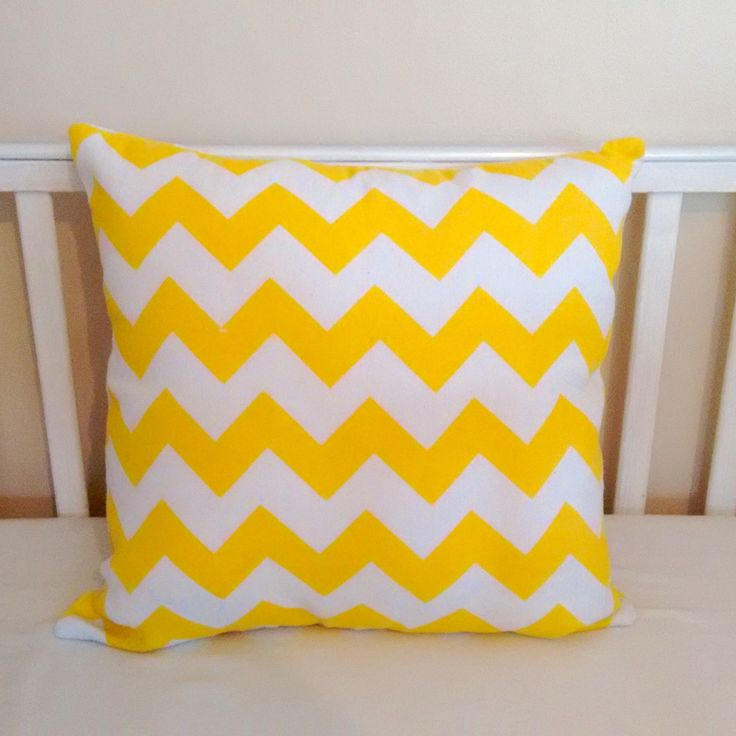 Yellow chevron scatter cushion by Tinytoadcreations on Etsy https://www.etsy.com/uk/listing/513160506/yellow-chevron-scatter-cushion
