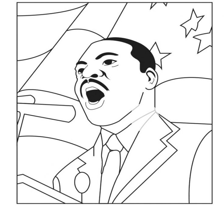 52 best famous people coloring pages images on pinterest for Martin luther king jr coloring pages