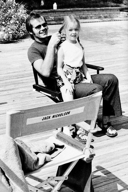 Jack Nicholson and his daughter Jennifer photographed by Arthur Schatz, 1969